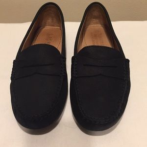 Ralph Lauren Camila Black Side Loafers